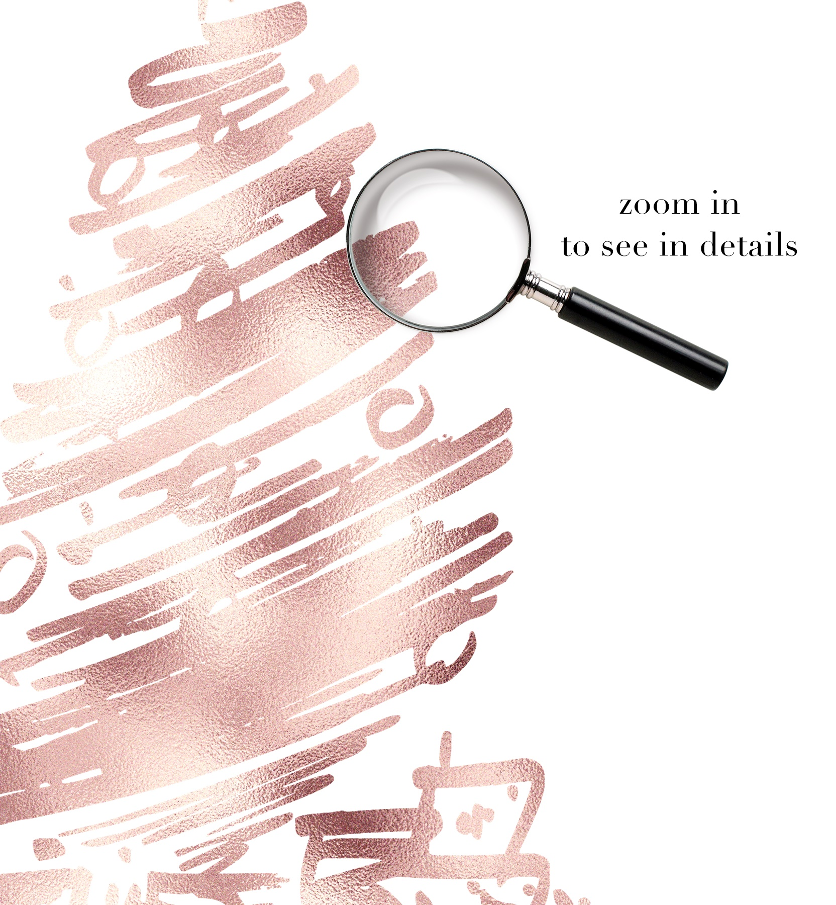 Rose Gold Christmas Trees Clipart example image 2