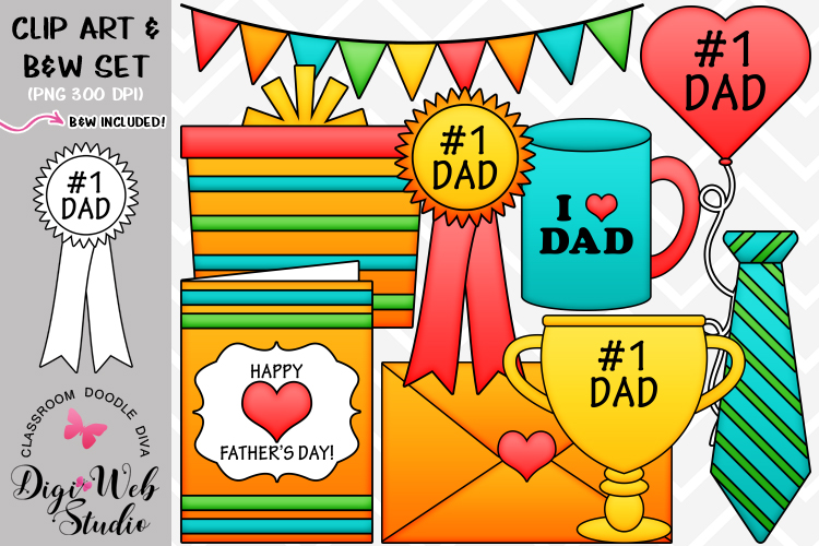 Clip Art / Illustrations - Father's Day Gifts example image 1