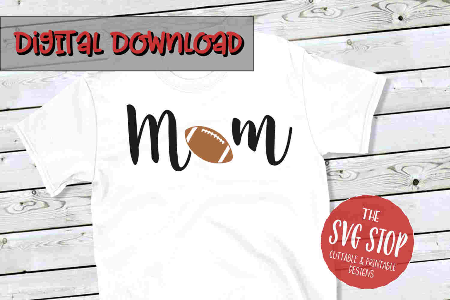 Mom Football -SVG, PNG, DXF example image 1