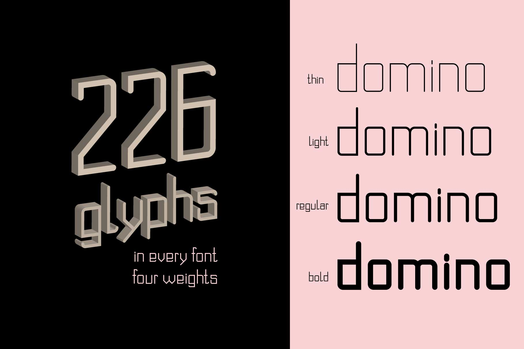 Domino font family  example image 4