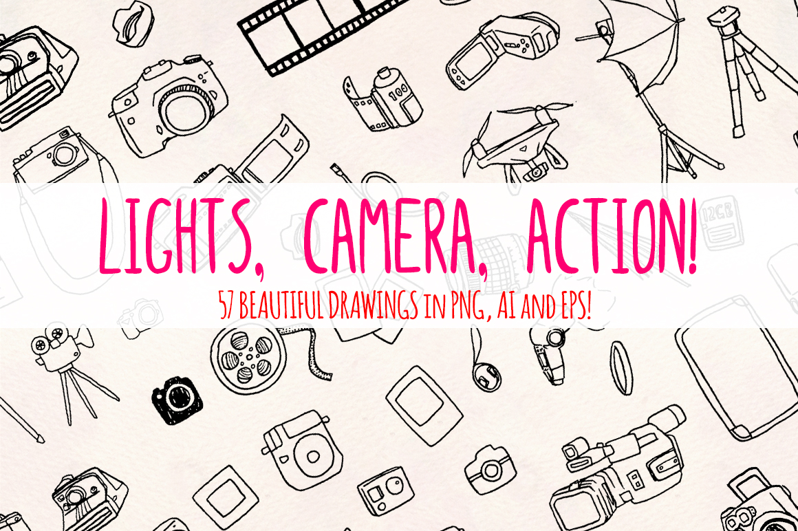 50 Camera, Photography and Film Vector Graphics example image 1