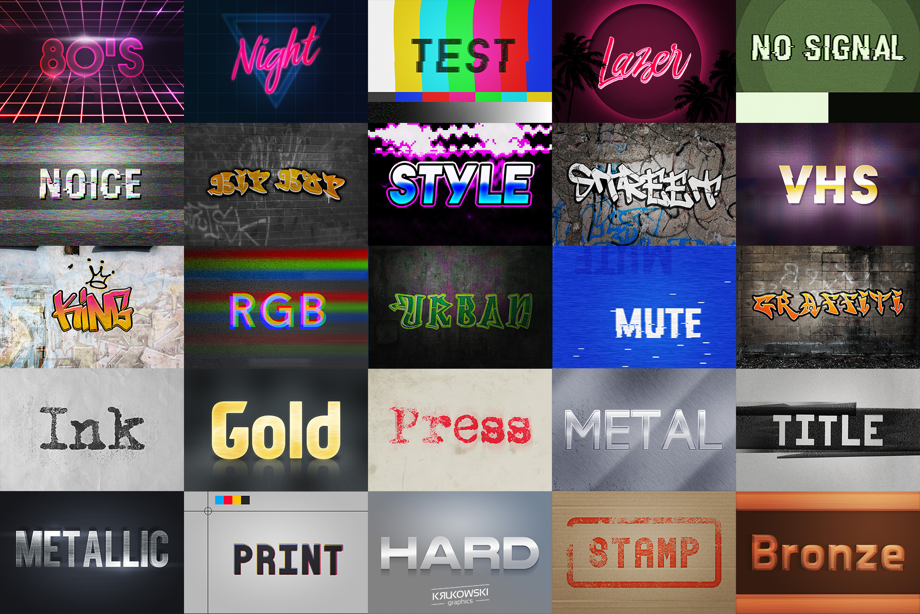 Text Effects Styles Bundle for Photoshop  example image 4