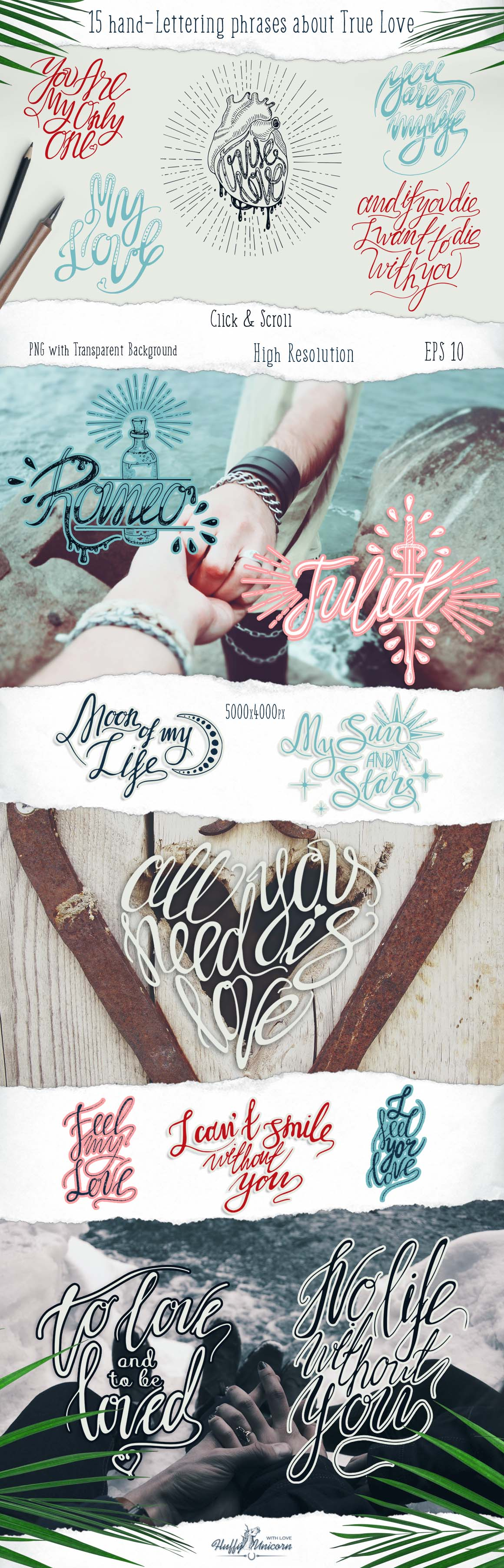 True Love Hand Lettering Set example image 8