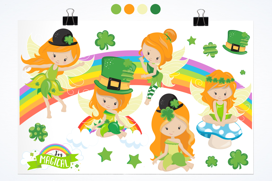 st-patrick fairies graphic and illustrations example image 4