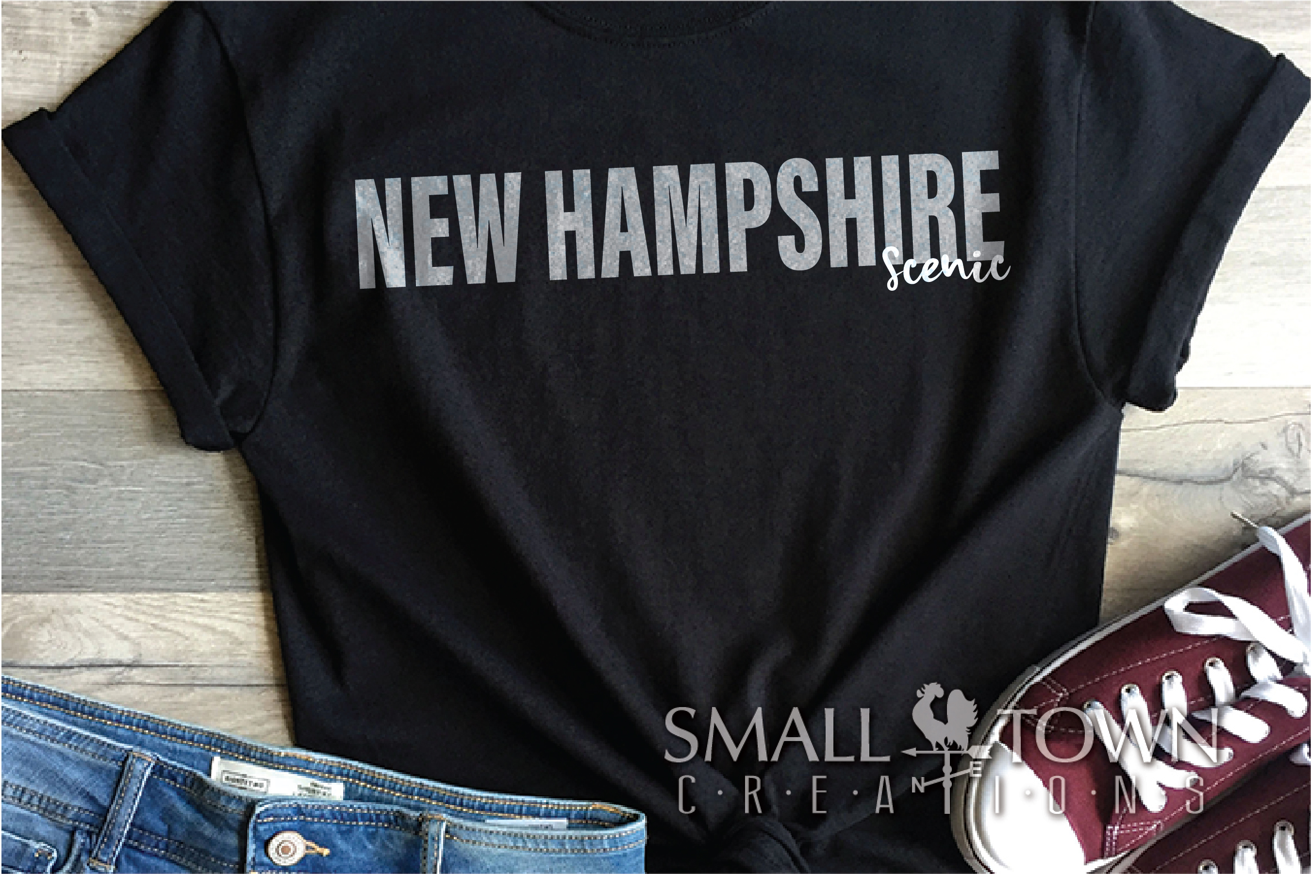 New Hampshire, Scenic - slogan, Logo, PRINT, CUT & DESIGN example image 6
