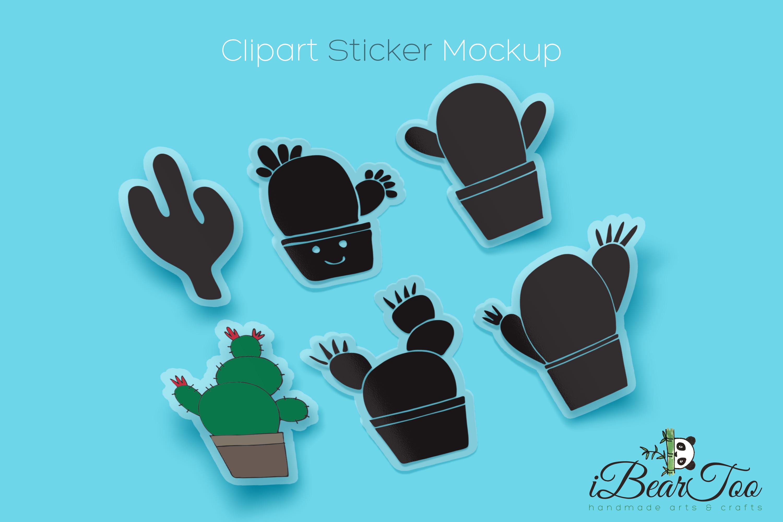 Cactus SVG Bundle Clipart Succulent Drawing Vector Cut Files example image 3