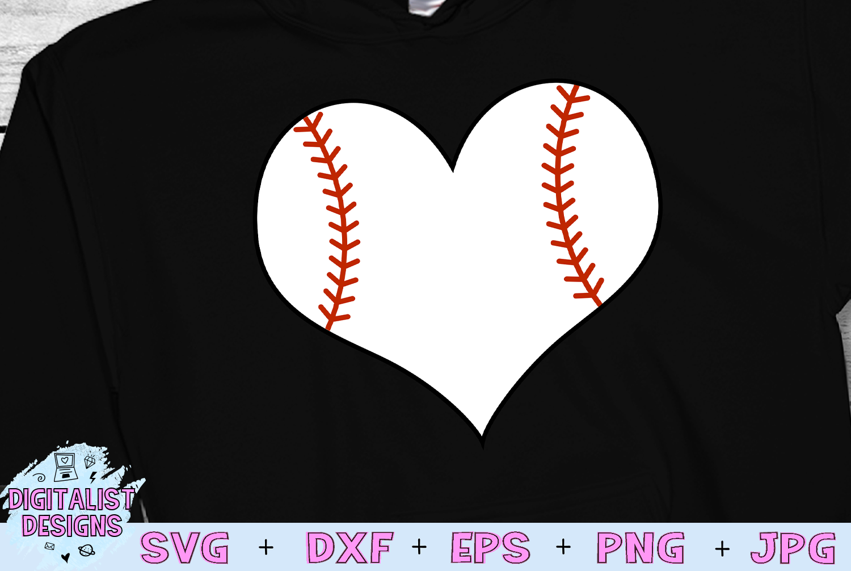 Baseball Heart SVG example image 1