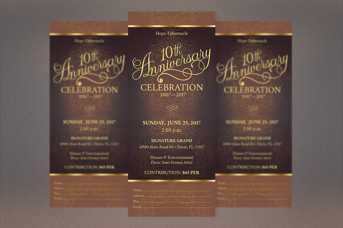 Church Anniversary Publisher Word Ticket Bundle example image 7