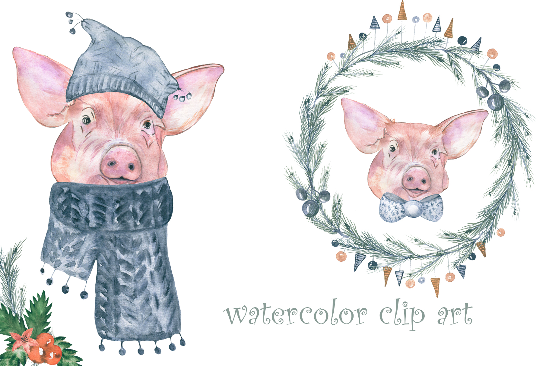 Watercolor Christmas example image 3