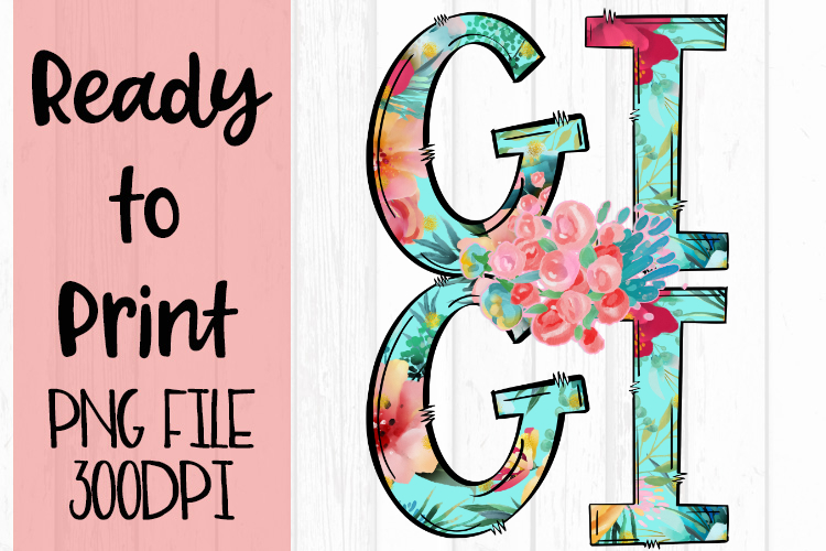 Bright Floral Gigi Ready to Print example image 1