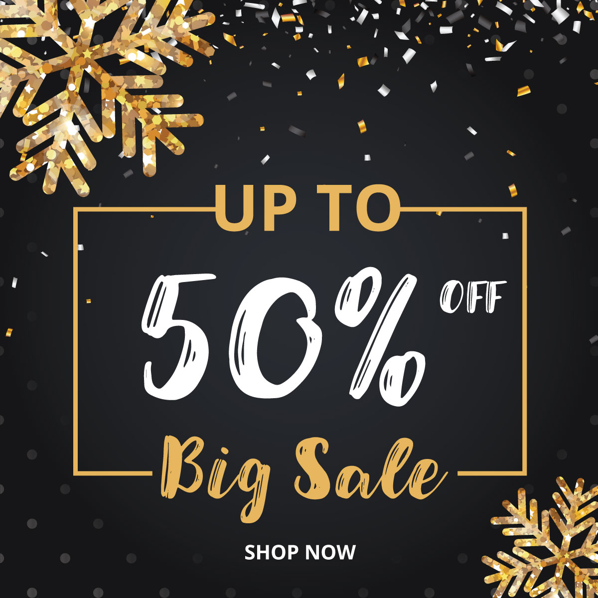 christmas and new year 2018 discount sale banners example image 3