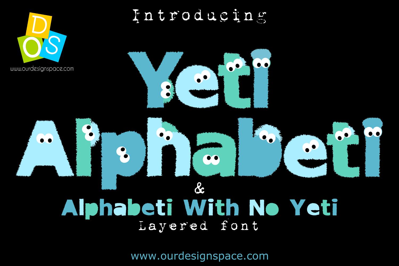 Yeti Alphabeti font example image 1