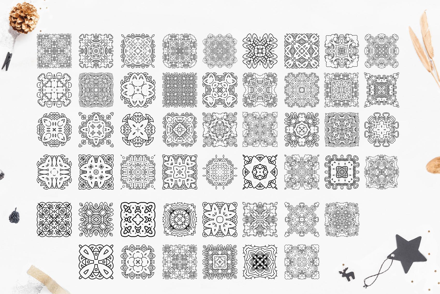 280 Ethnic MANDALAS square and round example image 6
