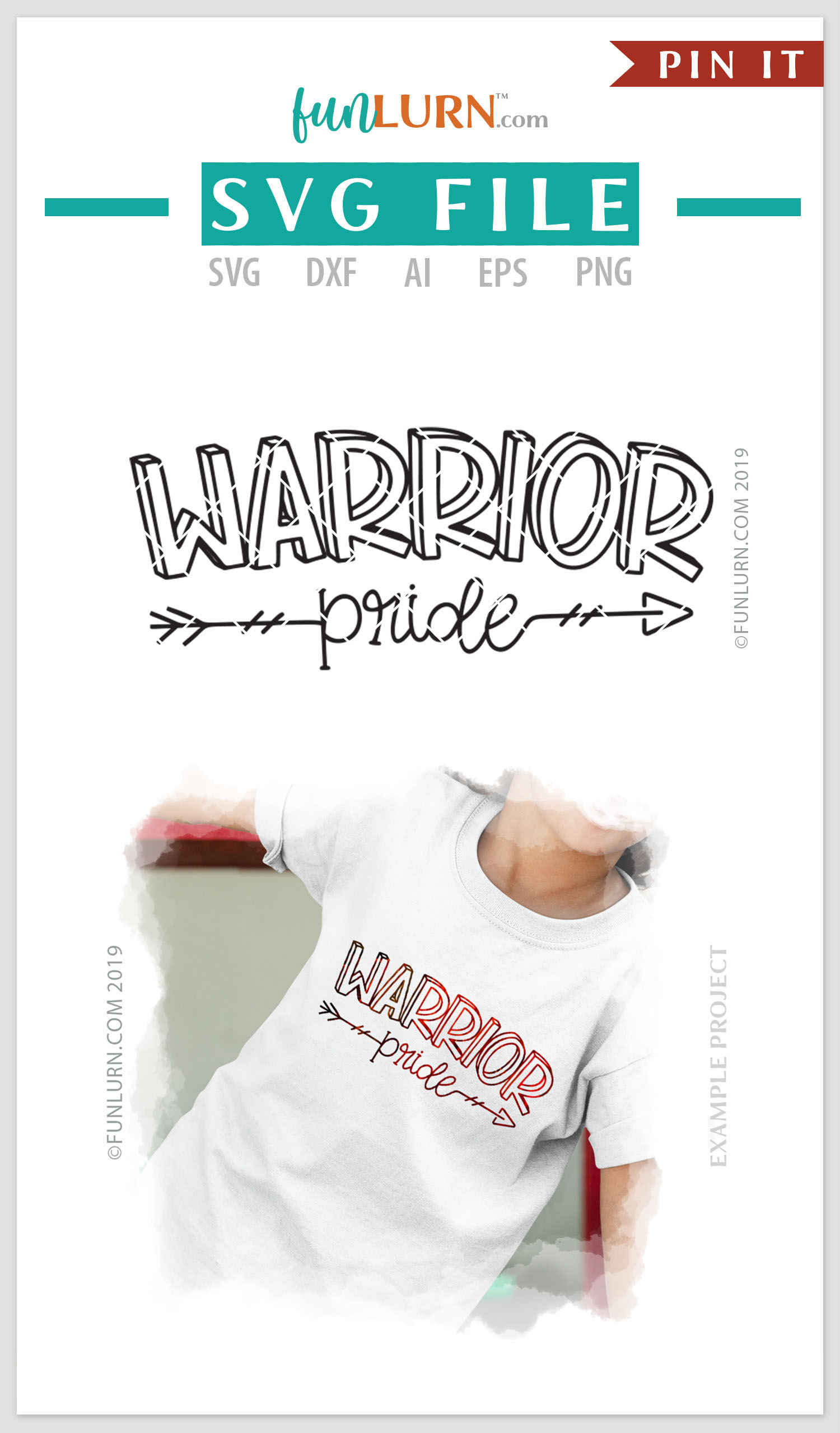 Warrior Pride Team SVG Cut File example image 4