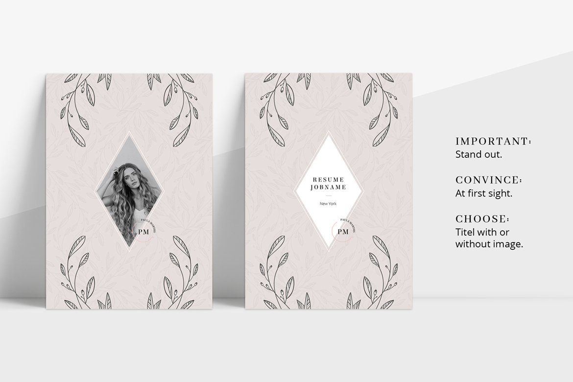 FLORAL Resume/CV + Cover Letter + Title example image 2