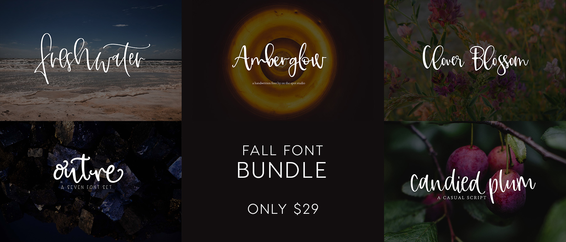 OTSS Fall Font Bundle - 2 Days ONLY example image 6