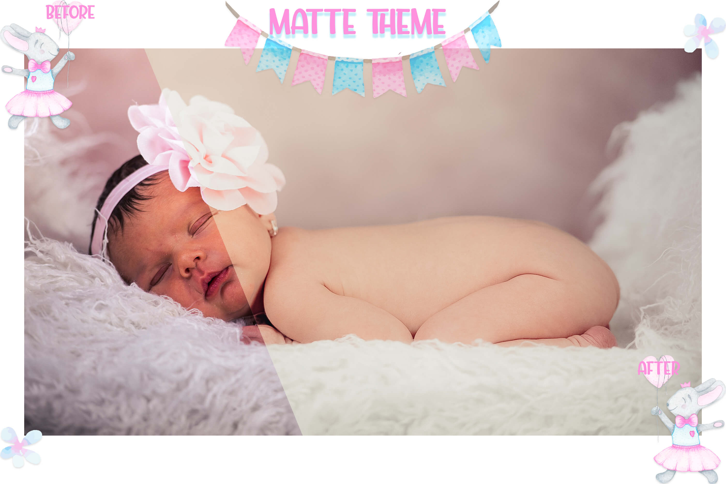10 Newborn Mobile & Desktop Lightroom Presets, baby skin LR example image 4