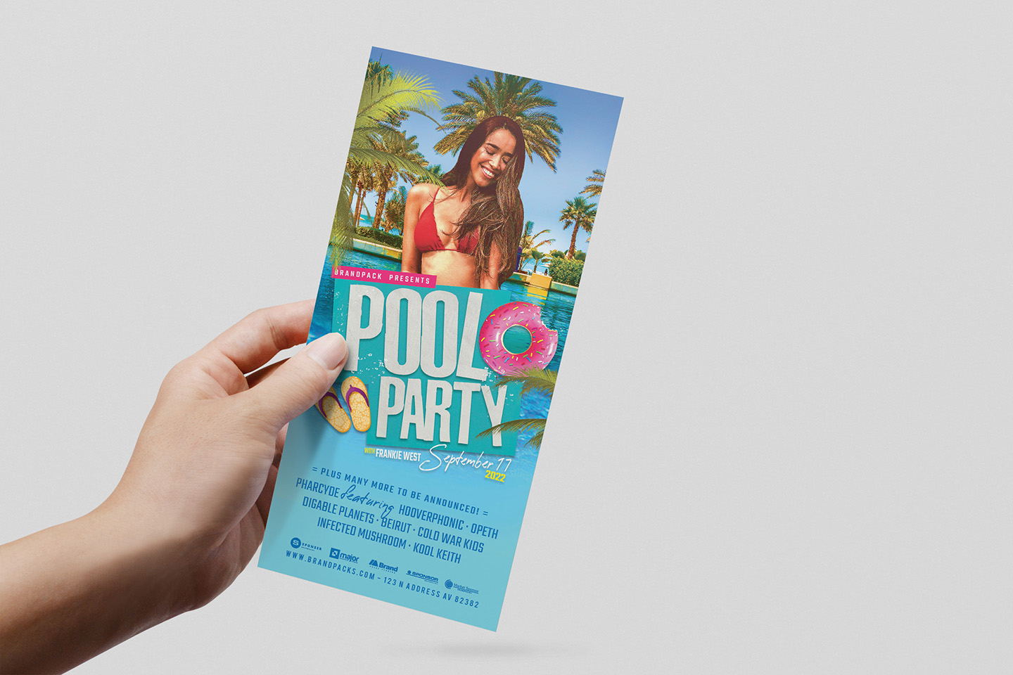 Pool Party Flyer Template example image 8