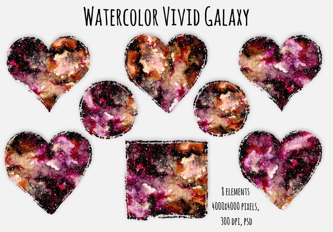 Watercolour Nebula Set example image 6