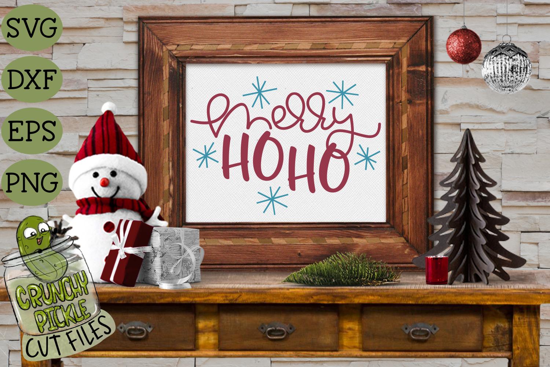 Merry Ho Ho Christmas SVG File example image 3