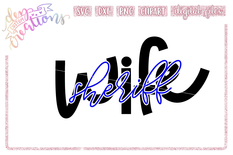 Law Enforcement Wife Thin Blue Line SVG Bundle example image 5