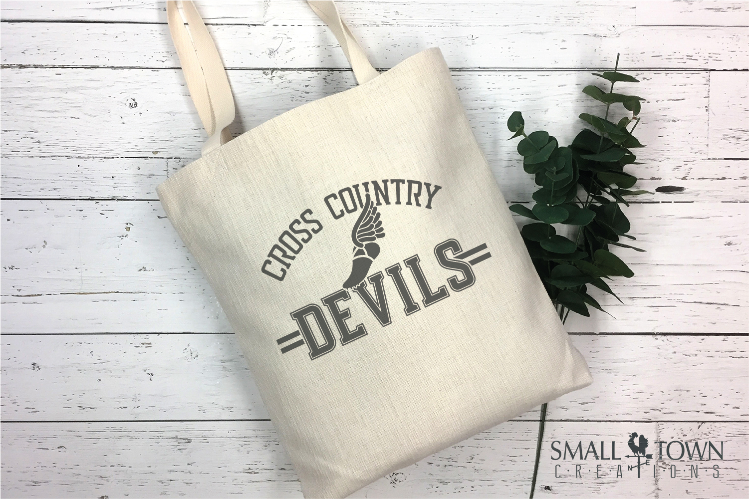 Devil Cross Country, Sports, Logo, PRINT, CUT & DESIGN example image 4
