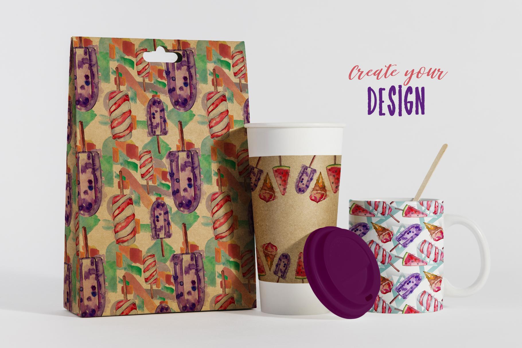 Ice-cream Pleasure Watercolor png example image 6