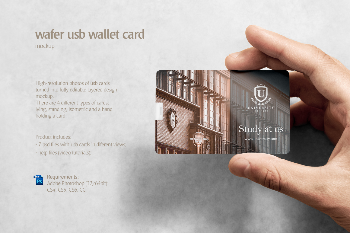 Wafer USB Wallet Card Mockup example image 2