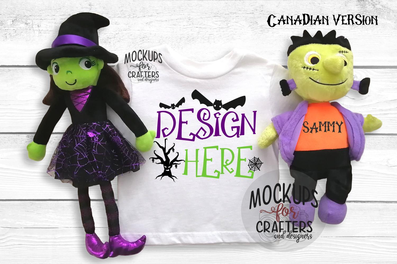 Halloween T-Shirt Mock-Up - Dollarama stuffie example image 2