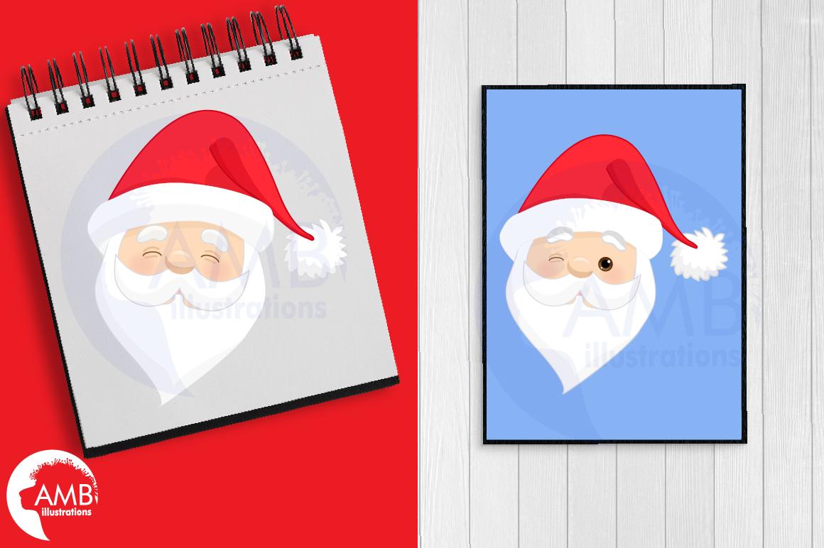 Santa claus emoji, Santa claus emoticons, AMB-2697 example image 2