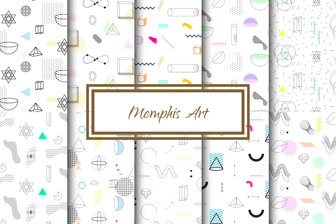 Memphis Art Vector Patterns example image 1
