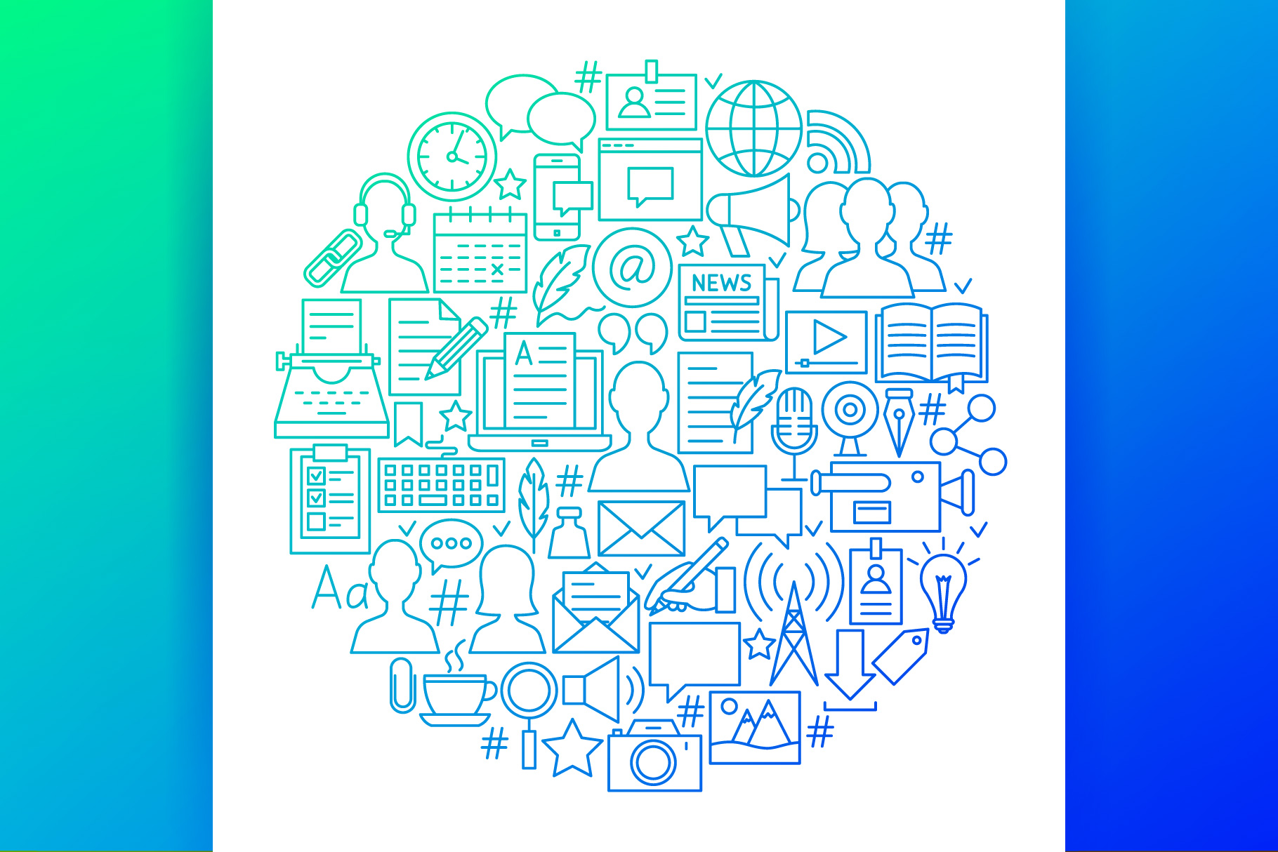 Blog Line Art Icons example image 5