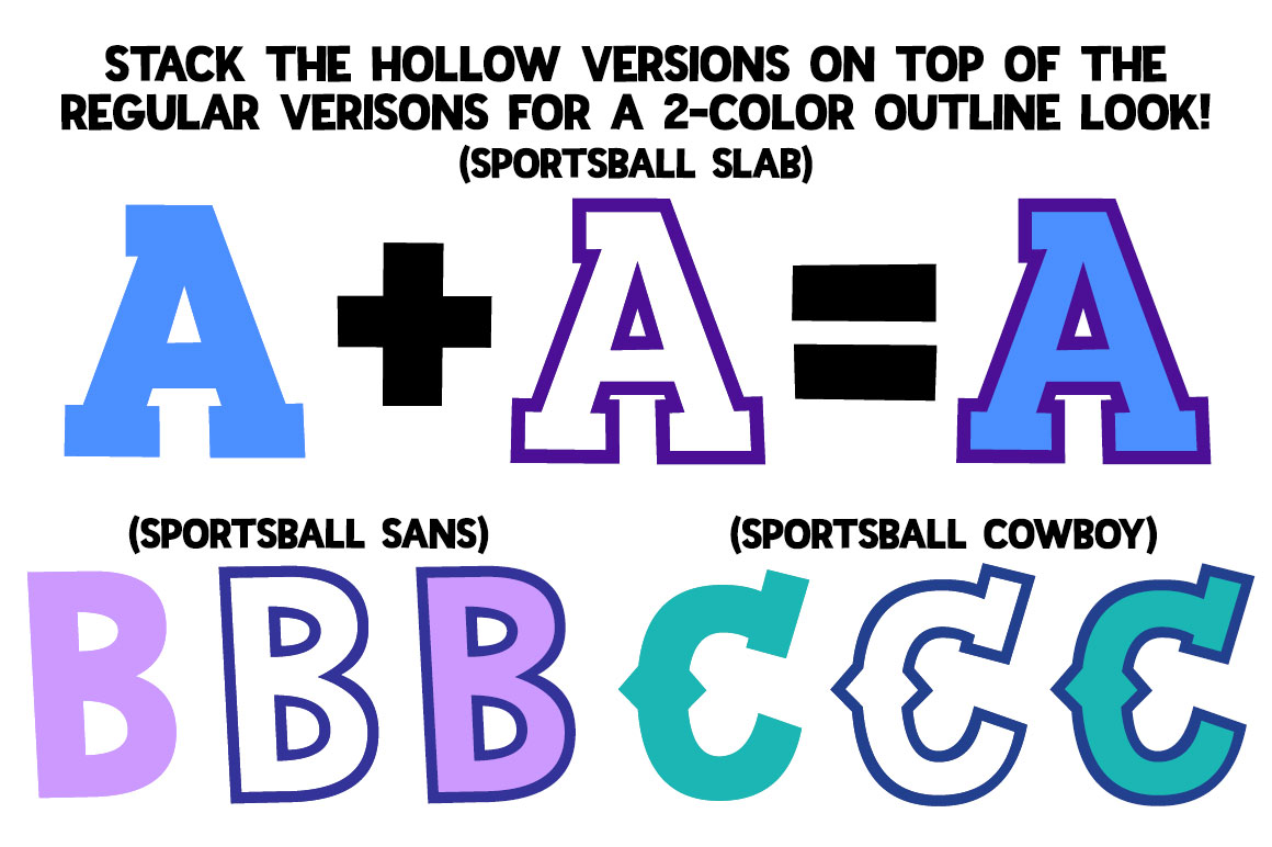Sportsball - fun font with alternates! example image 3