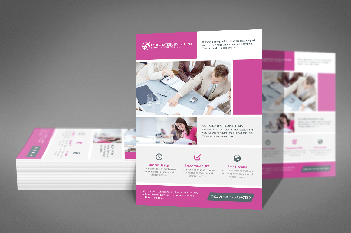 Clean Corporate Business Flyer example image 2