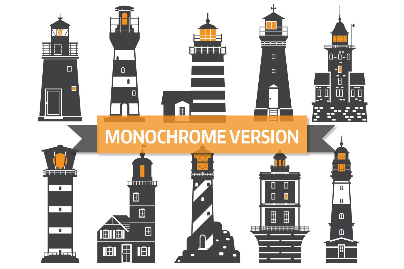 Lighthouse Icons and Patterns example image 4