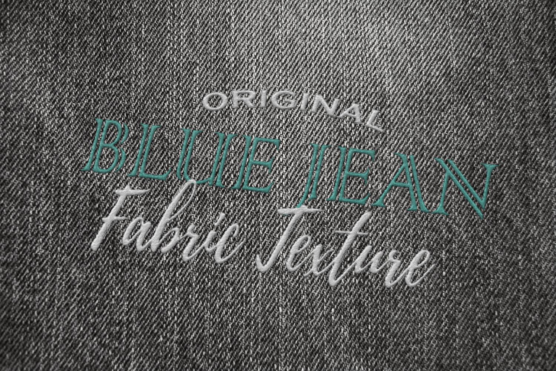 15 Denim Jean Fabric Textures JPG example image 5