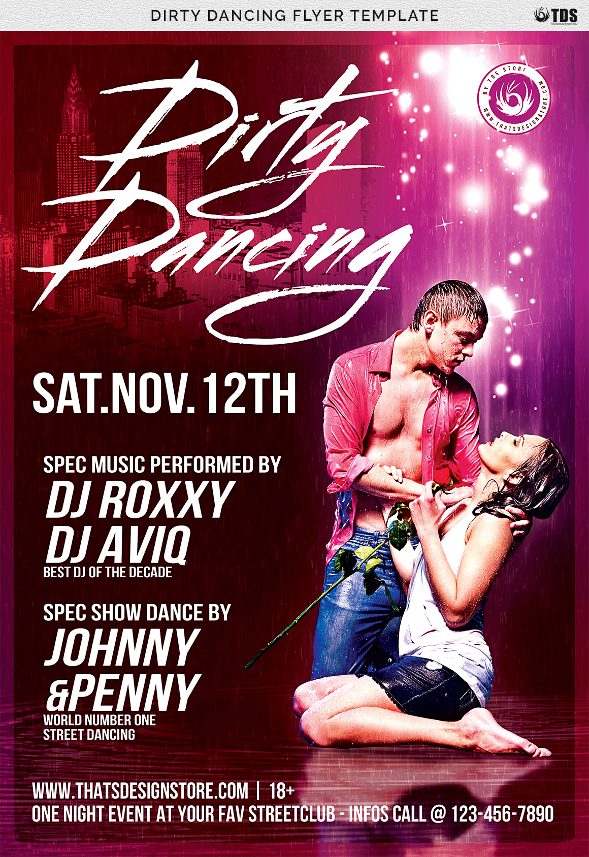 Dirty Dancing Flyer Template example image 7