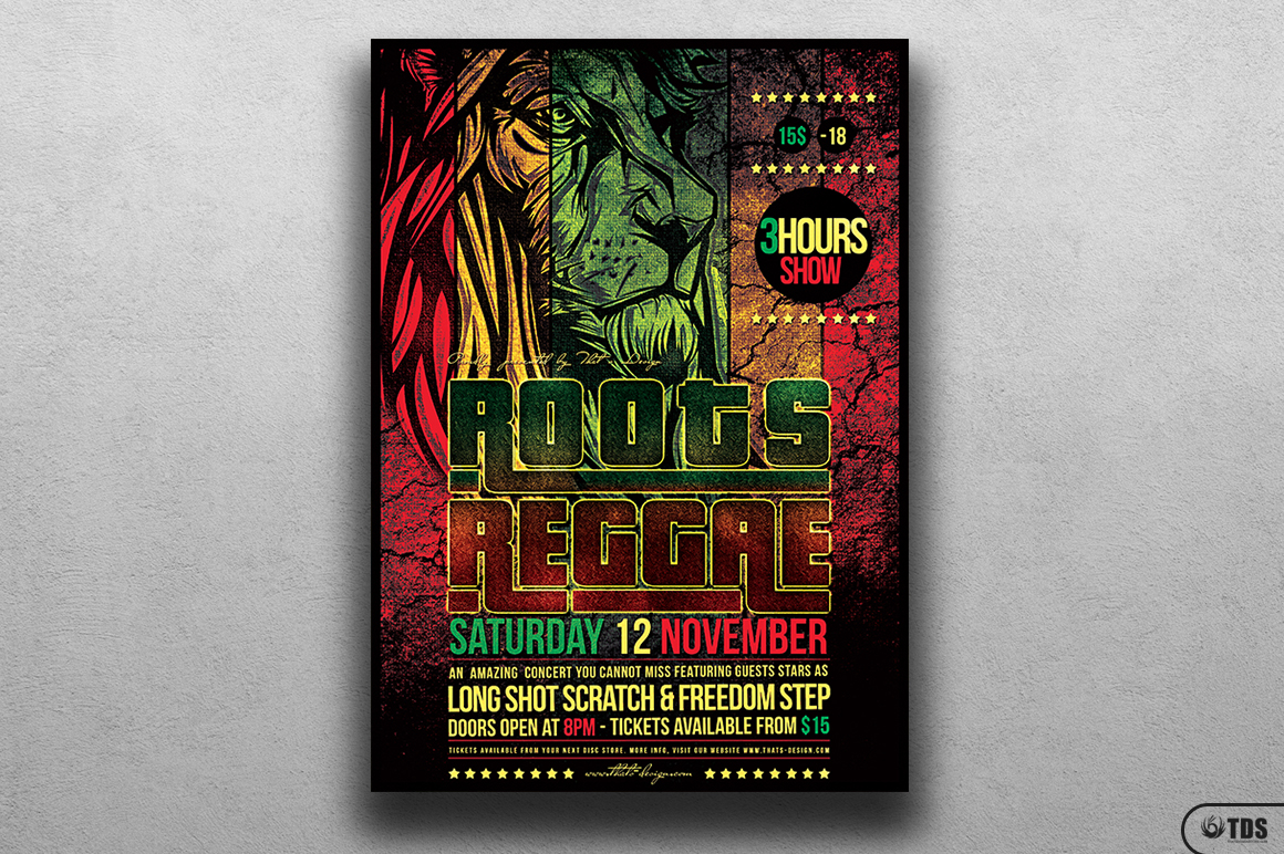 Roots Reggae Flyer Template example image 1
