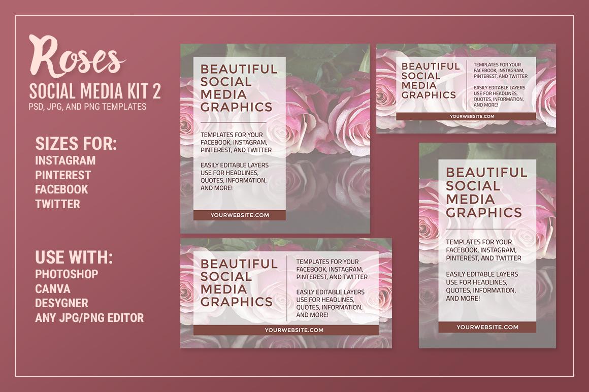 Roses Social Media Kit Bundle example image 4