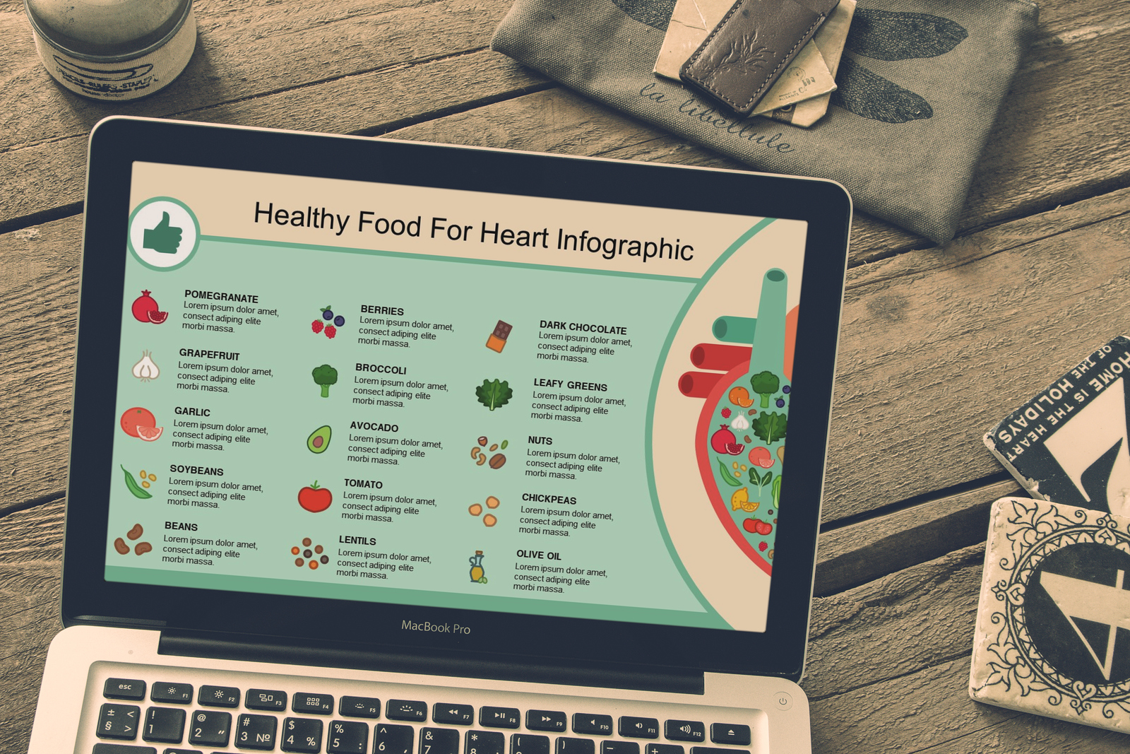 Mega Food PowerPoint Infographic Set example image 2