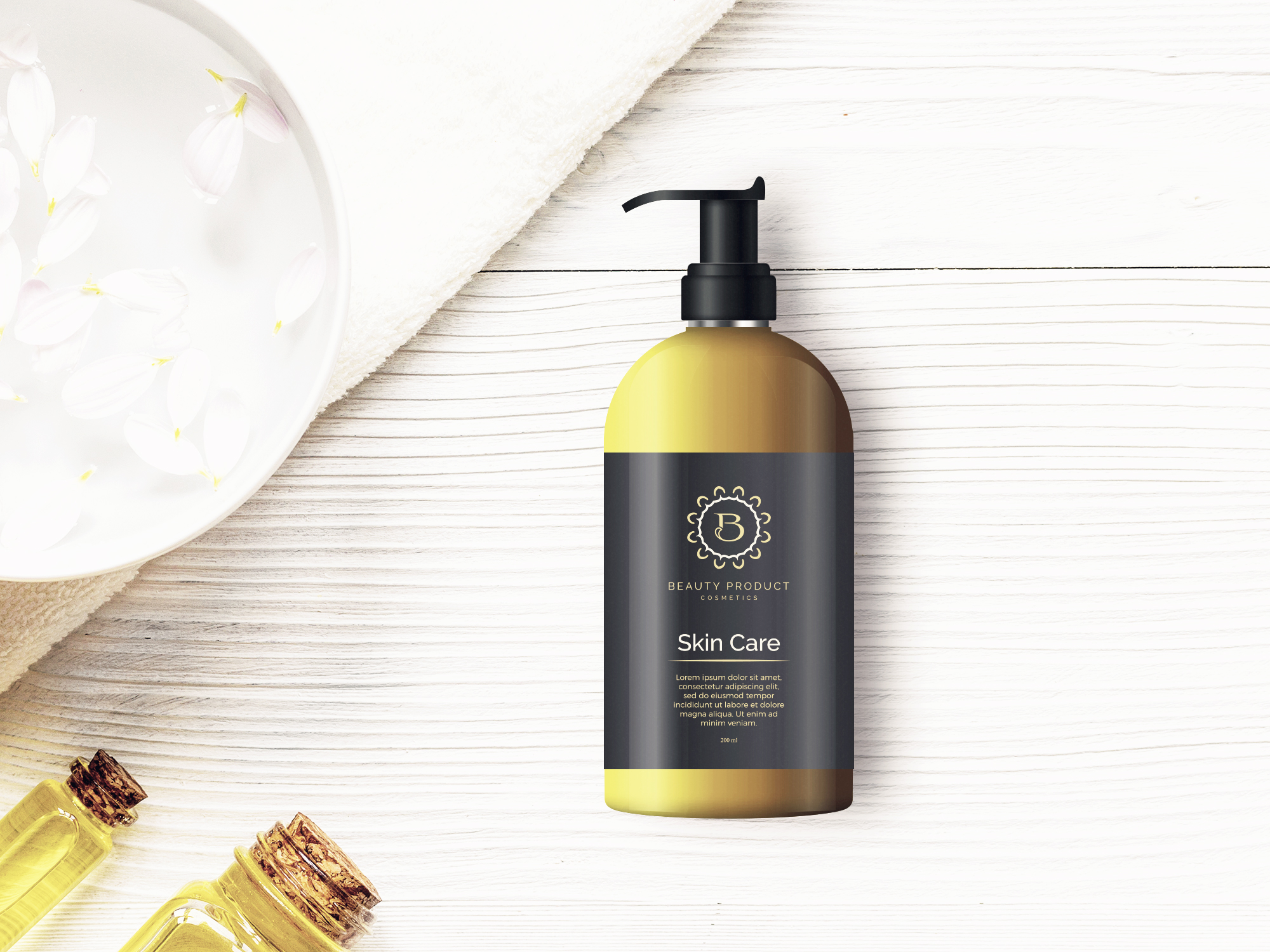 Cosmetic Bottle Mockup, Shampoo and Oil Bottle mock up example image 5