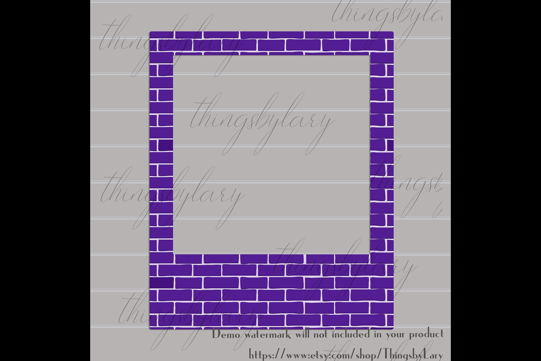 254 Brick Wall Polaroid Photo Booth Baby Shower Photo Frames example image 3
