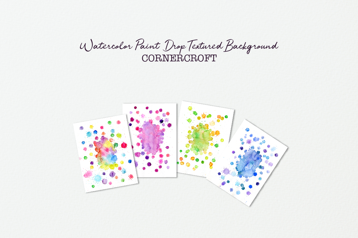 Watercolor paint drops background example image 3