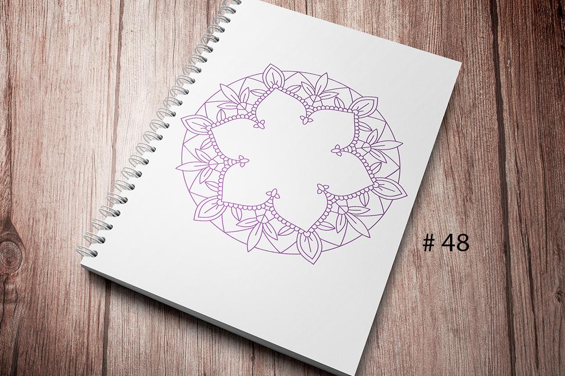 50 Vector Mandalas, Cut Files & PNG's - SVG DXF PNG example image 6
