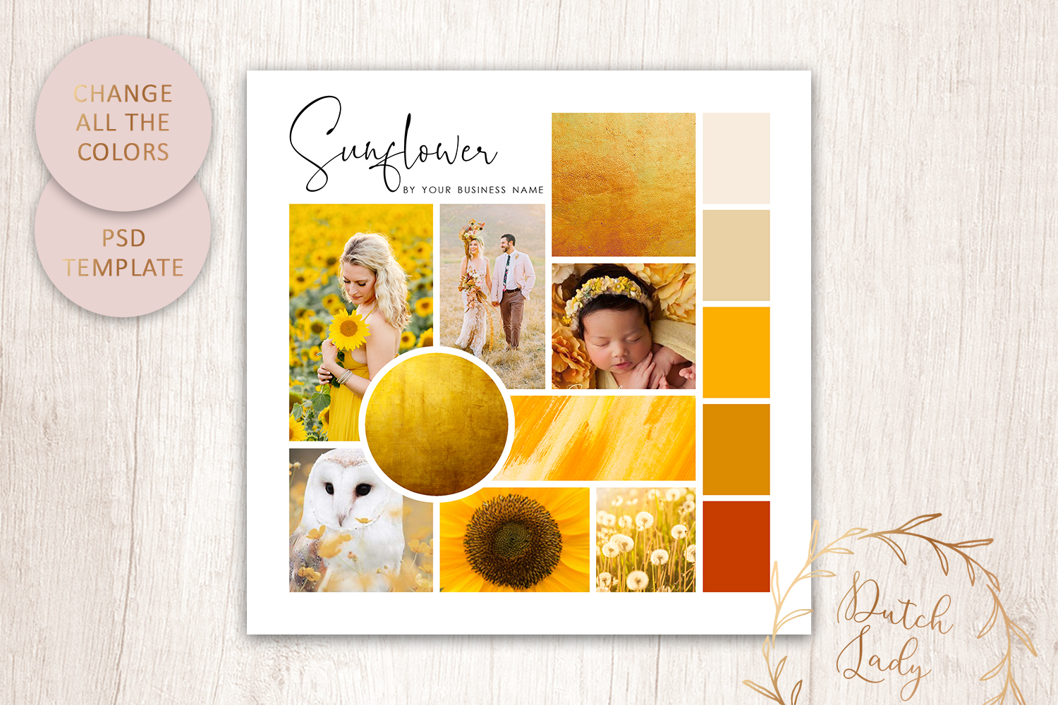 PSD Mood & Vision Board - Adobe Photoshop Template - #9 example image 3
