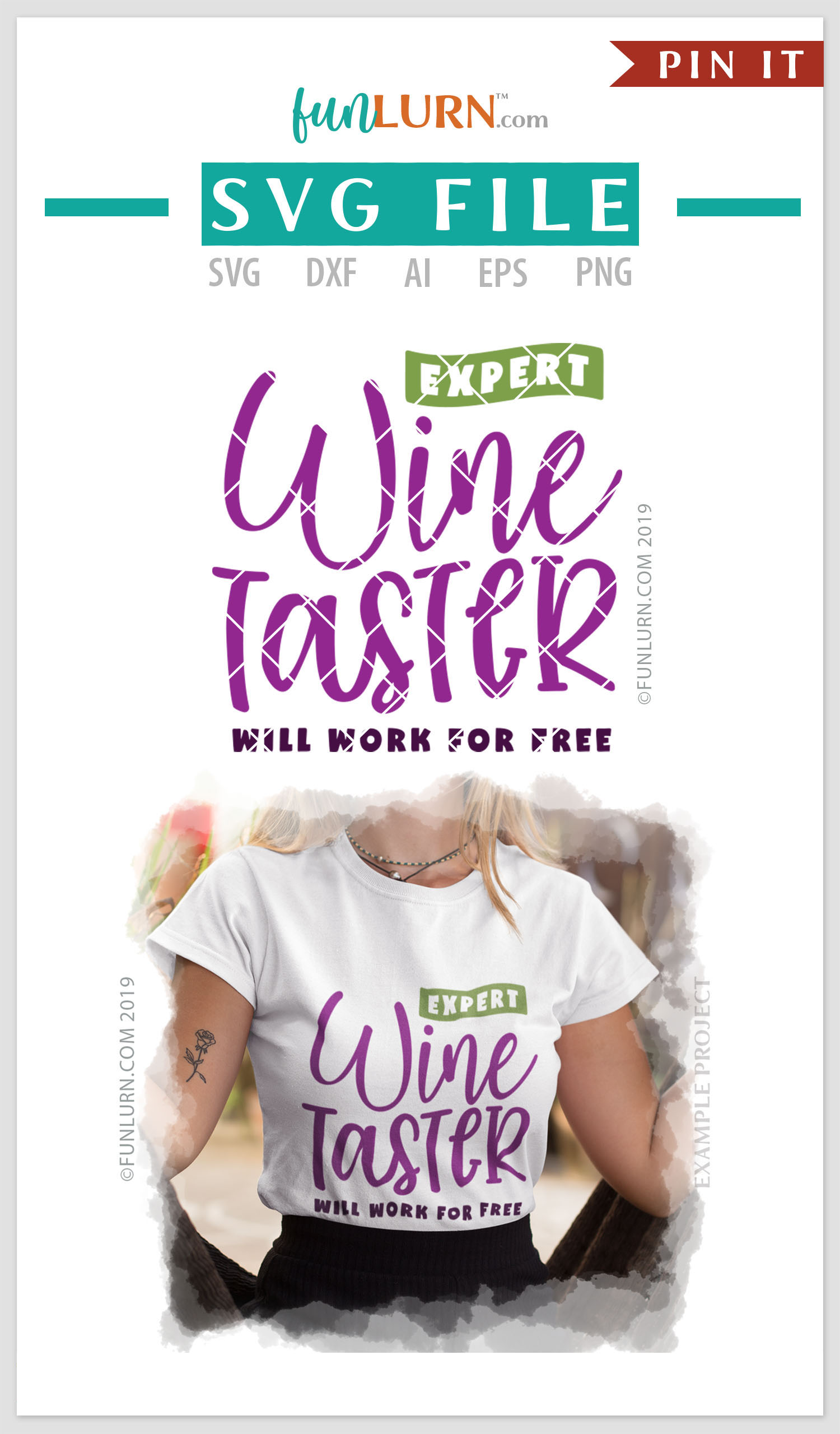 Expert Wine Taster Will Work For Free SVG Cut File example image 4