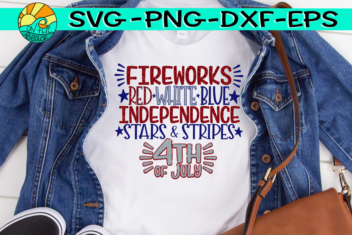 Fireworks, Red, White, Blue, Independence, Stars, Stripes example image 1