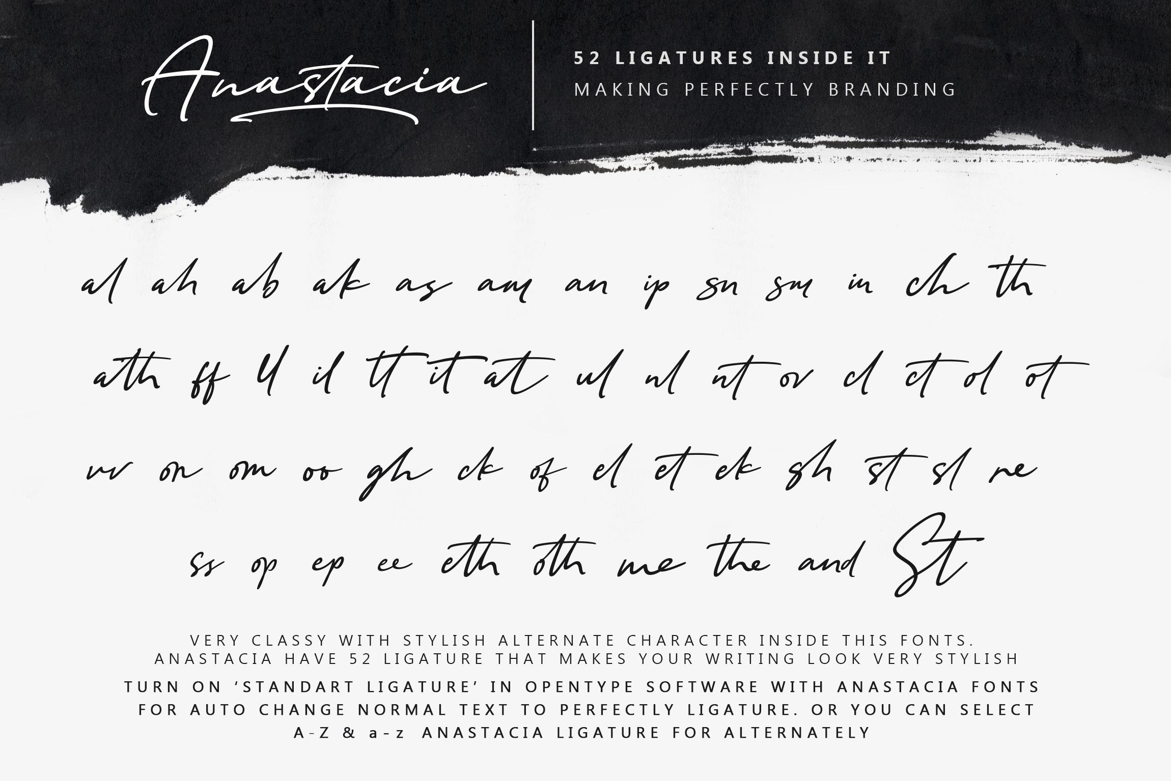 Anastacia Signature Font example image 8