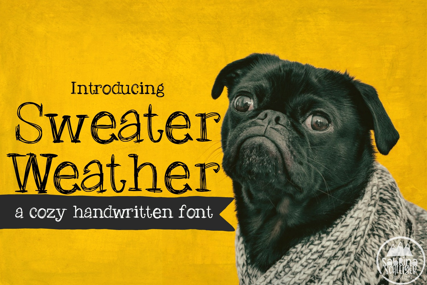 Sweater Weather Handwritten Font example image 1