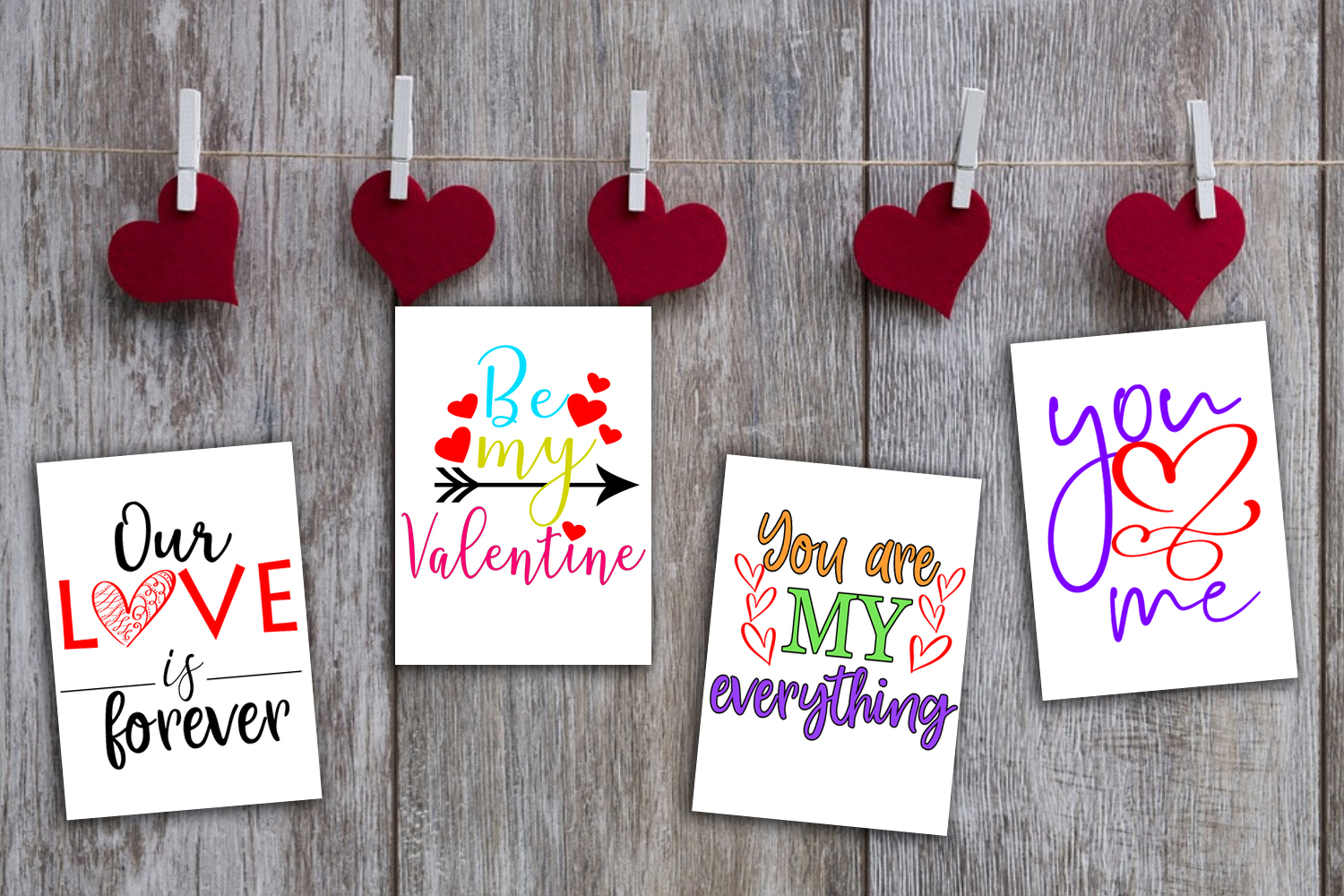 Cute Valentine's Day Cards- Printable Valentines Day Cards example image 8